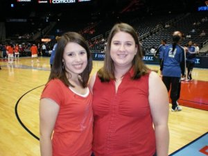 Courtside at the Atlanta Dream. I met Orlando Magic's Dwight Howard... I also had no clue who he was :)